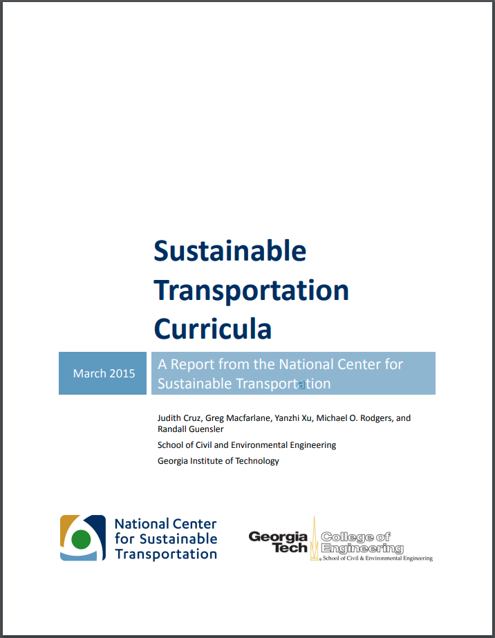 Sustainable Transportation Model Curricula thumbnail